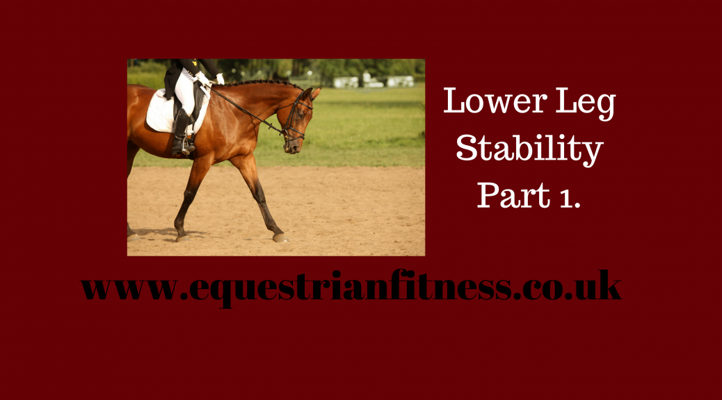 Lower Leg Stability Part 1.