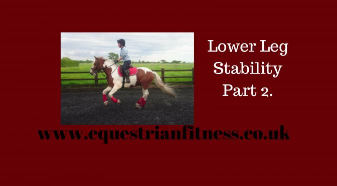Lower Leg Stability Part 2.