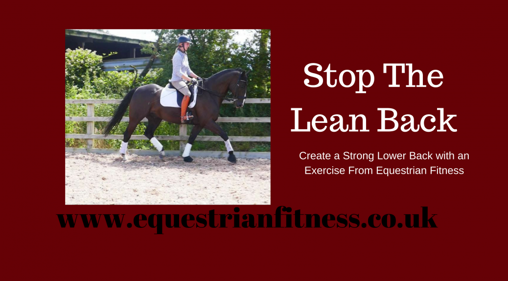 stop the lean back