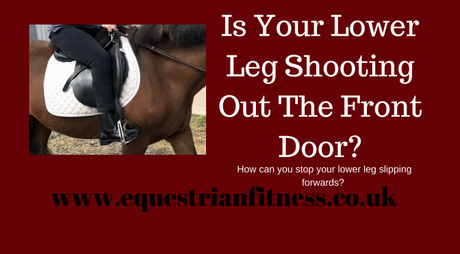 Does Your Lower Leg Shoot Forward?