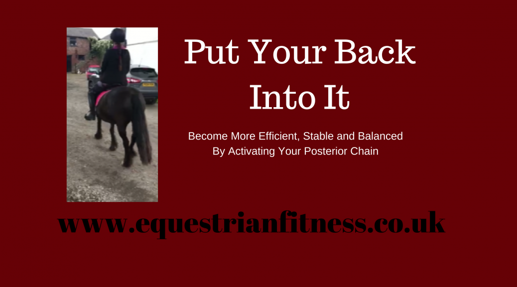 put your back into it