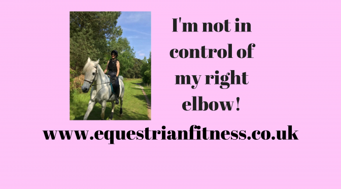 I'm not in control of my right elbow!