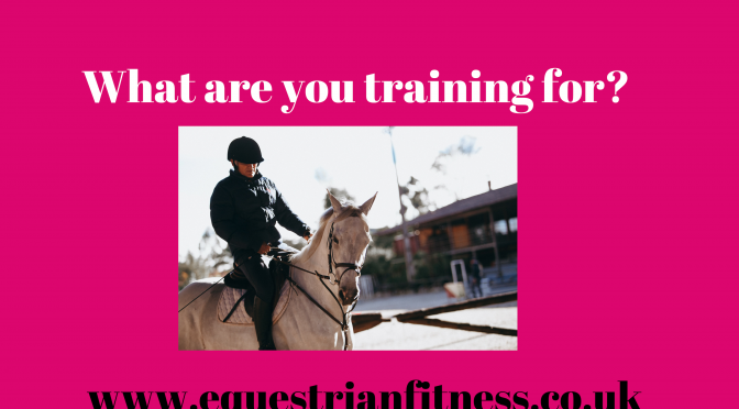 What are you training for?