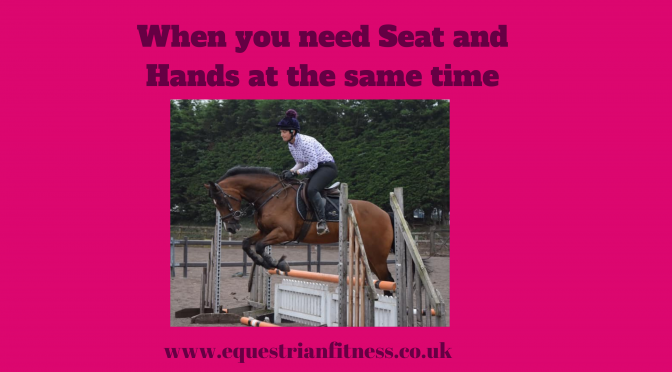When you seat and hands………..at the same time!