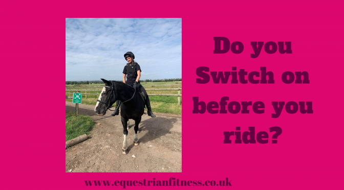 Do you switch on before you ride?