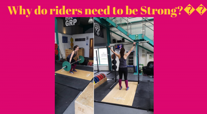 Why do riders need to be strong?