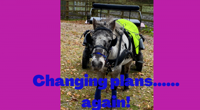 Changing Plans……….again!